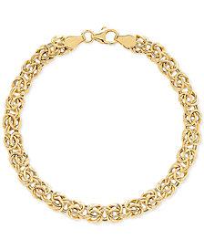 Byzantine Link Bracelet in 14k Gold
