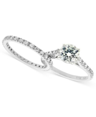 Charmant Giani Bernini Sterling Silver Ring Set, Cubic Zirconia Wedding Band And Engagement  Ring Set In