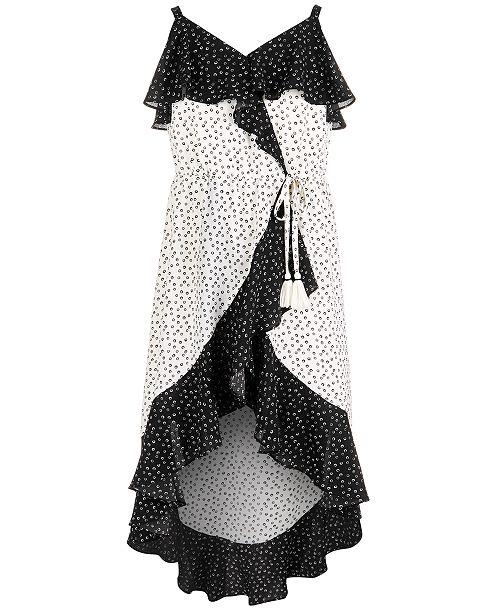 a01c167de5a9 Sequin Hearts Big Girls Ruffle-Trim Wrap Maxi Dress   Reviews ...