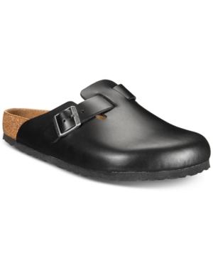 Birkenstock Men's Boston Leather Clogs Men's Shoes In Black Oiled Leather