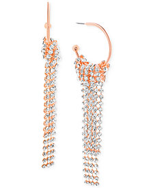 Steve Madden Crystal Fringe Drop Earrings