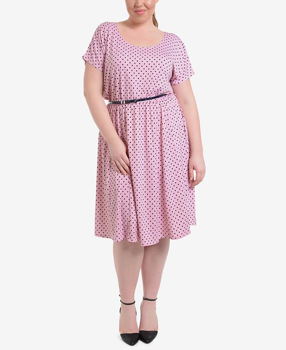 NY Collection Plus Size Polka Dot Dress