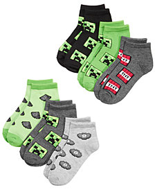 Minecraft Big Boys 6-Pk. Graphic-Print Socks