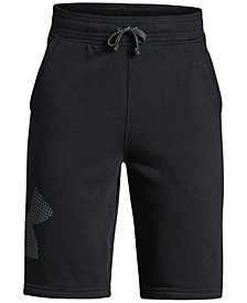 Under Armour Big Boys Graphic-Print Fleece Shorts