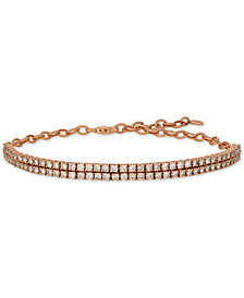 Le Vian® Nude™ Diamond Double Row Bracelet (2-1/2 ct. t.w.) in 14k Rose Gold