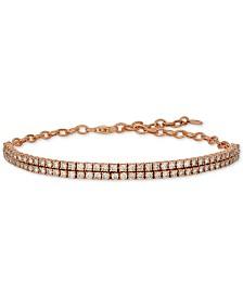Le Vian® Nude™ Diamond Double Row Bracelet (2-1/2 ct. t.w.) in 14k Rose Gold