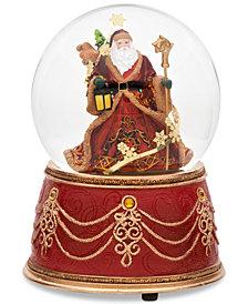 Roman Santa Glitter Dome Musical Snowglobe
