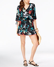 Bar III Split-Sleeve Tunic Cover-Up, Created for Macy's