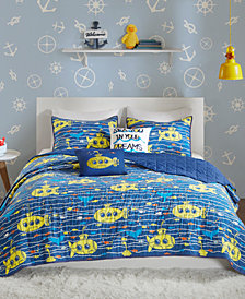 Urban Habitat Kids Hawkins 5-Pc. Full/Queen Cotton Coverlet Set