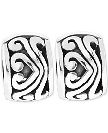2-Pc. Set Sterling Silver Filigree Stopper Bead Charms