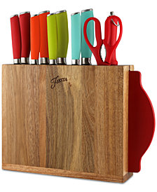 Fiesta 12-Pc. Solid Cutlery With Block