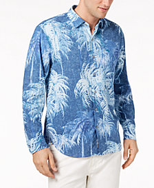 Tommy Bahama Men's Indigo Evening IslandZone Palm-Print Shirt