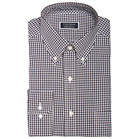 Deals on Club Room Classic Fit Gingham Check Performance Dress Shirt