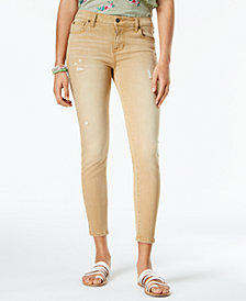 Celebrity Pink Juniors' Colored Distressed Skinny Jea
