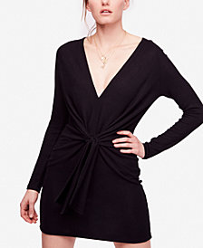 Free People Ginger Tie-Waist Mini Dress