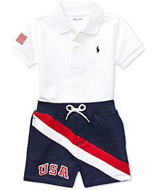 Polo Ralph Lauren Baby Boys Cotton Shorts & Polo Shirt Set