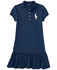 Polo Ralph Lauren Big Pony Mesh Polo Dress, Big Girls