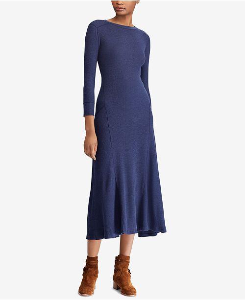 0bd2ddca215 Polo Ralph Lauren Waffle-Knit Maxidress   Reviews - Dresses ...