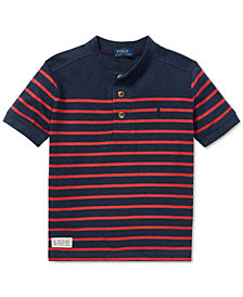 Polo Ralph Lauren Big Boys Striped Cotton Henley Shirt
