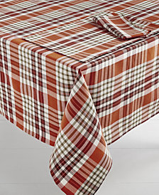 "Bardwil Berry Plaid 60"" x 84"" Tablecloth"