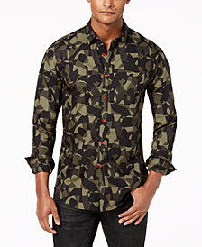 I.N.C. Men's Camo Shirt, Created for Macy's