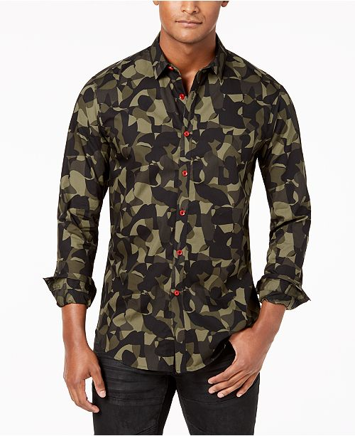 ... INC International Concepts I.N.C. Men s Camo Shirt e5227ce88c7