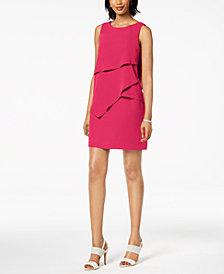 Jessica Howard Petite Asymmetrical Tiered Shift Dress