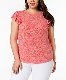 MICHAEL Michael Kors Plus Size Mini Leopard-Print Top