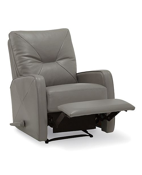 Furniture Finchley Leather Pushback Recliner