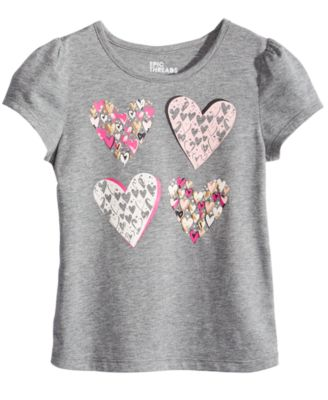 Little Girls Heart-Print T-Shirt, Created for Macy's
