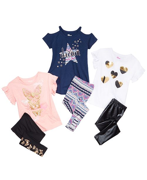 Epic Threads Big Girls Assorted T-Shirt & Leggings Separates, Created for Macy's