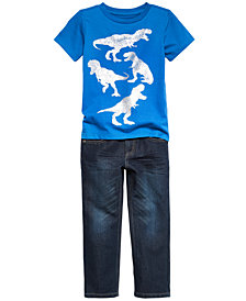 Epic Threads Little Boys Graphic-Print T-Shirt & Denim Jeans Separates, Created for Macy's
