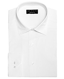 AlfaTech by Alfani Men's Classic/Regular Fit Performance Stretch Tonal Diamond Print Dress Shirt, Created For Macy's