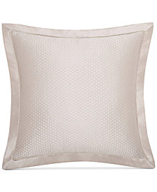 Charisma Avalon Quilted Faux-Silk European Sham