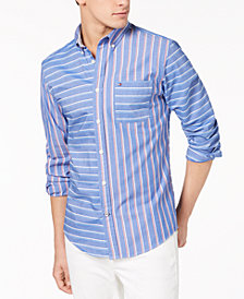 Tommy Hilfiger Men's Whedon Custom-Fit Pieced Stripe Pocket Shirt, Created for Macy's