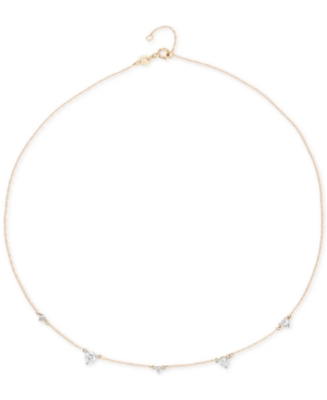 "Elsie May Diamond Droplet Collar Necklace (1/4 ct. t.w.) in 14k Gold, 15"" + 1"" extender, Created for Macy's"