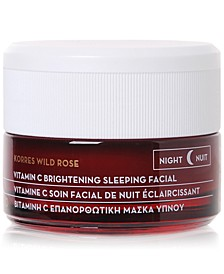 Wild Rose Vitamin C Brightening Sleeping Facial, 1.4 oz.