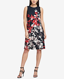 DKNY Printed Matte Jersey Dress, Created for Macy's
