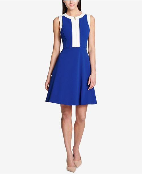 Tommy Hilfiger Scuba Crepe Fit Flare Dress 5 Reviews Main Image