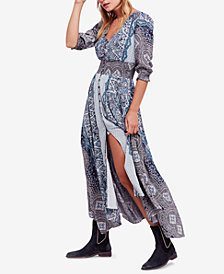 Free People Mexicali Rose Printed Smocked Maxi Dress