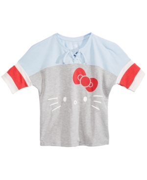 Hello Kitty Big Girls Colorblocked LaceUp TShirt