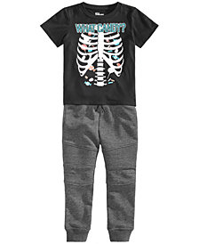 Epic Threads Little Boys Graphic-Print T-Shirt & Moto Jogger Separates, Created for Macy's