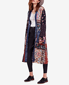 Free People Songbird Patched Open-Front Coat
