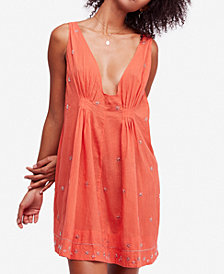Free People Crushin On You Cotton Beaded Striped Dress