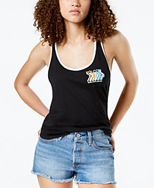 Volcom Juniors' Edit N Crop Graphic Tank Top
