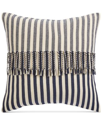 "Stripe 20"" Square Decorative Pillow, Created for Macy's"