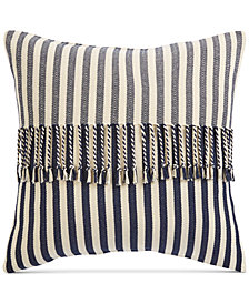 "Oxford Collection Stripe 20"" Square Decorative Pillow, Created for Macy's"