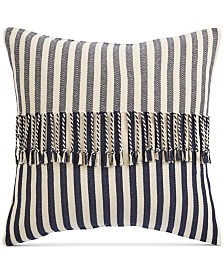 """Oxford Collection Stripe 20"""" Square Decorative Pillow, Created for Macy's"""