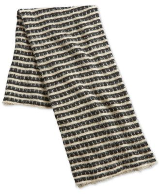 "50"" x 60"" Fringed-Stripe Throw, Created for Macy's"