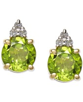 7cf1b724f Peridot (2 ct. t.w.) & Diamond Accent Stud Earrings in 14k Gold